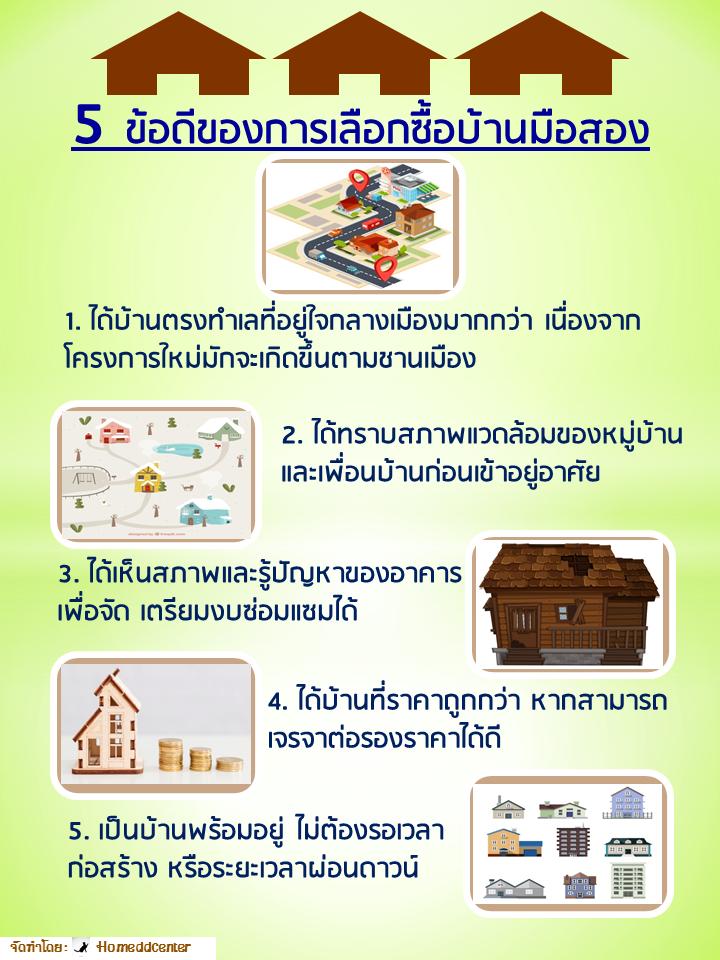 5 ข้อดีของการเลือกซื้้อบ้านมือสอง